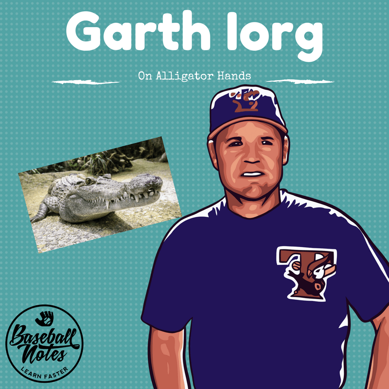 how to field a ground ball, alligator hands, garth iorg